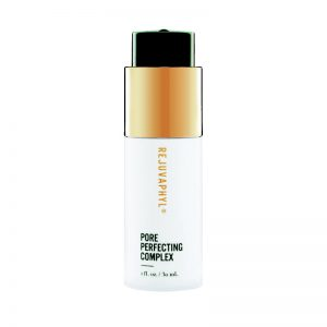 Bottle of rejuvaphyl pore perfecting complex